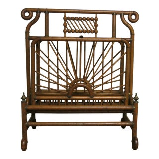 Victorian Stick and Ball Magazine Rack or Folio For Sale