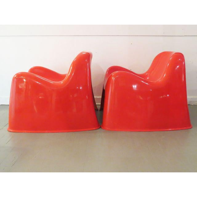 Vintage Artemide Red Toga Chairs - A Pair - Image 4 of 9