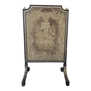 Early 19th Century French Empire Needlepoint Fireplace Screen For Sale
