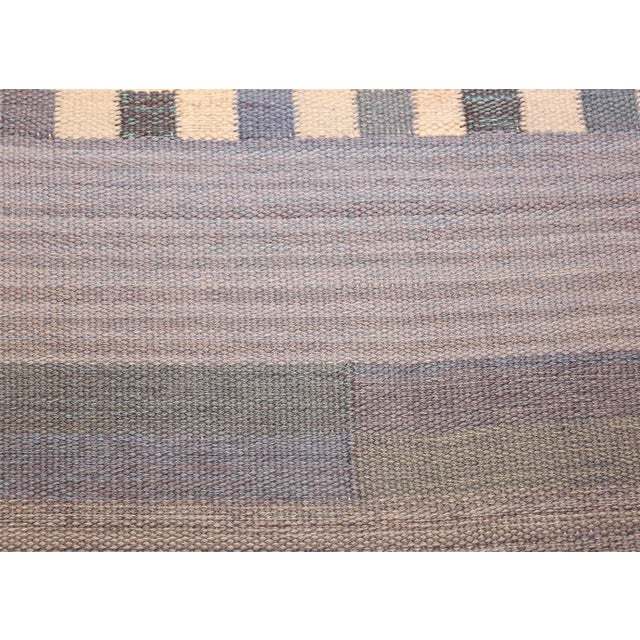 Vintage Swedish Kilim Rug by Marianne Richter for Marta Maas - 7′4″ × 7′6″ For Sale In New York - Image 6 of 11