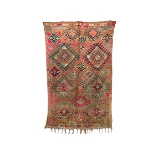 "Boujad Vintage Moroccan Rug - 6'3"" X 9'10"" For Sale"