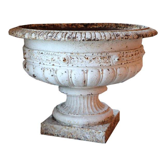 French Cast Iron Planter With Pedestal Base For Sale