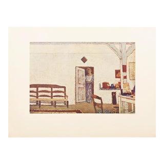 "1947 Jean-Édouard Vuillard, Original Parisian ""Interieur"" Lithograph For Sale"