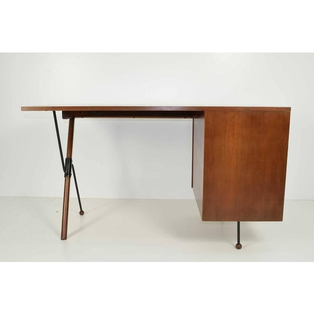 Greta Grossman Walnut Desk by Glenn of California - Image 4 of 7