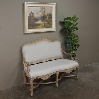 19th Century French Louis XV Rococo Fruitwood Sofa Preview