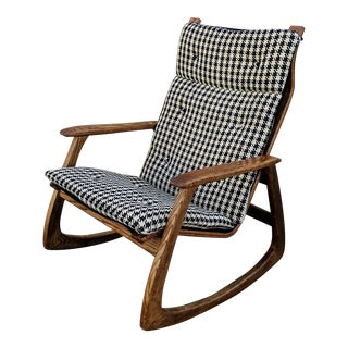 1960s Vintage Bassett Prestige Line Houndstooth Rocker For Sale