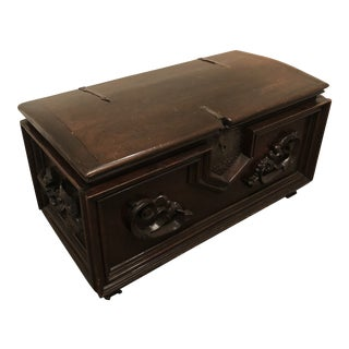 Antique Italian Mahogany Chest For Sale