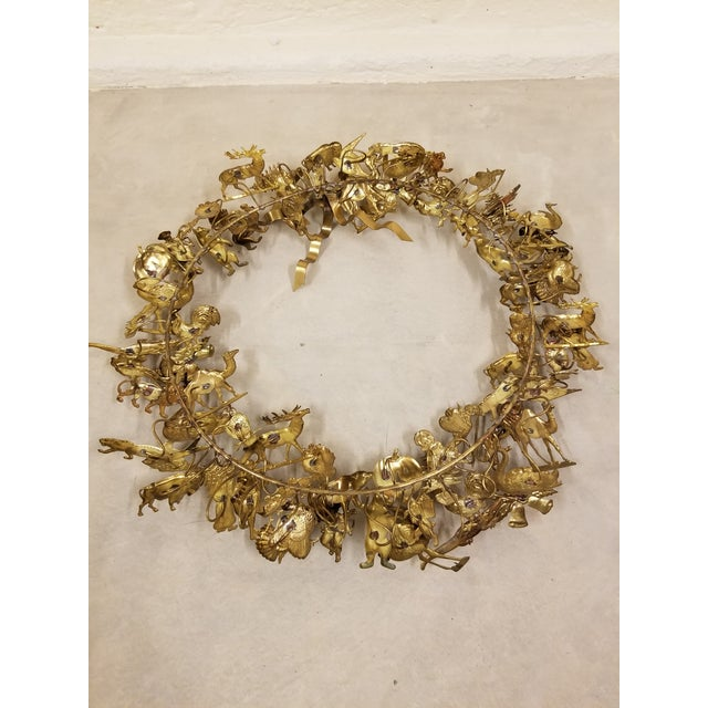 Dresden Holiday Wreath For Sale - Image 4 of 5
