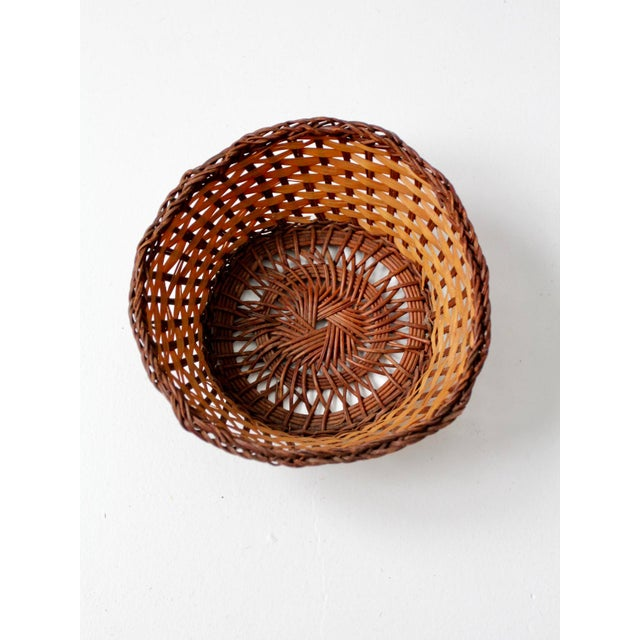 Vintage Woven Basket Bowl For Sale - Image 6 of 7