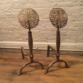 Ernest Gimson Style Arts & Crafts Andirons - a Pair Preview