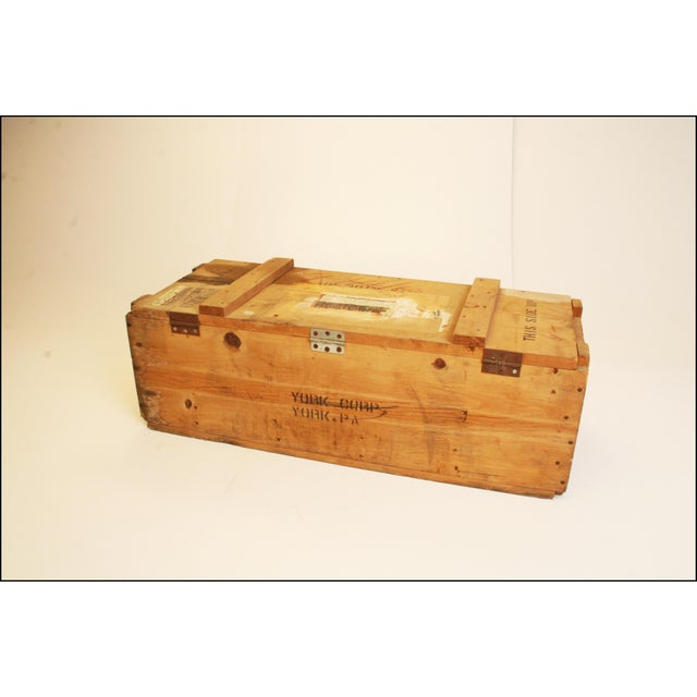 Vintage Wood Military Ammunition Trunk - Image 3 of 11