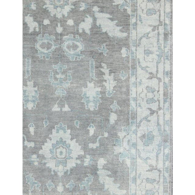 Traditional Vintage Gray Oushak Style Rug- 8′6″ × 11′6″ For Sale - Image 3 of 7
