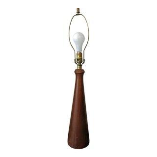 Mid-Century Danish Modern Teak Cone Table Lamp