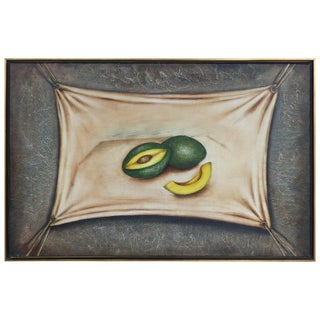 """Avocados"" Oil Painting on Canvas by Cuban American Artist Nelson Franco For Sale"