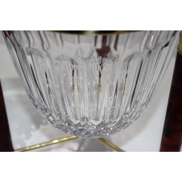 Hollywood Regency Champagne Bucket Crystal on Faux Marble & Brass Stand 1980s by Design Guild For Sale - Image 3 of 13