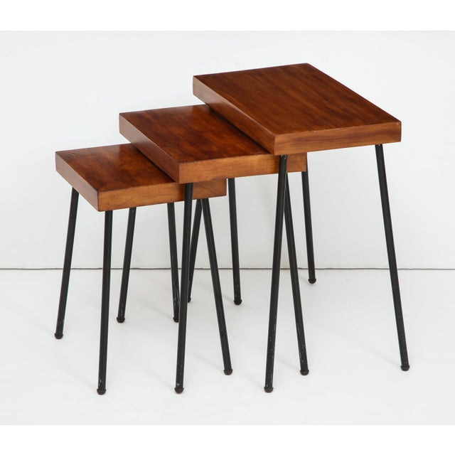 1960s David Wurster for Raymor Nest of Tables - Set of 3 For Sale - Image 12 of 12