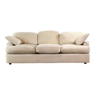 Henredon Upholstered Ivory Sofa For Sale