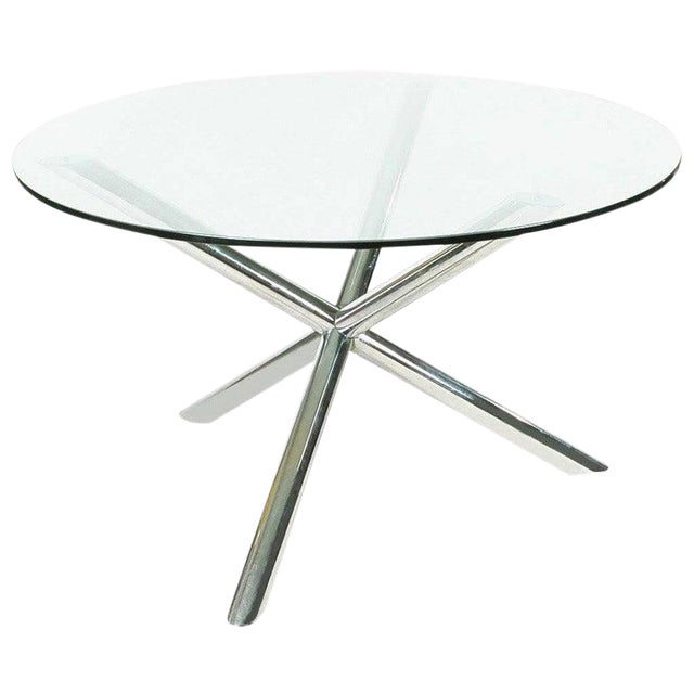 Mid-Century Chrome Jax Tripod Table Attributed to Milo Baughman For Sale
