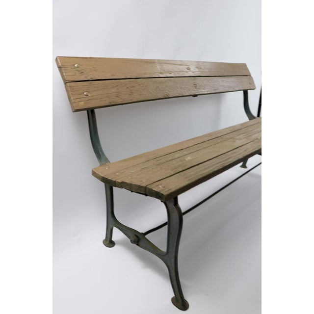 Early 20th Century Cast Iron and Wood Park Bench For Sale - Image 5 of 9