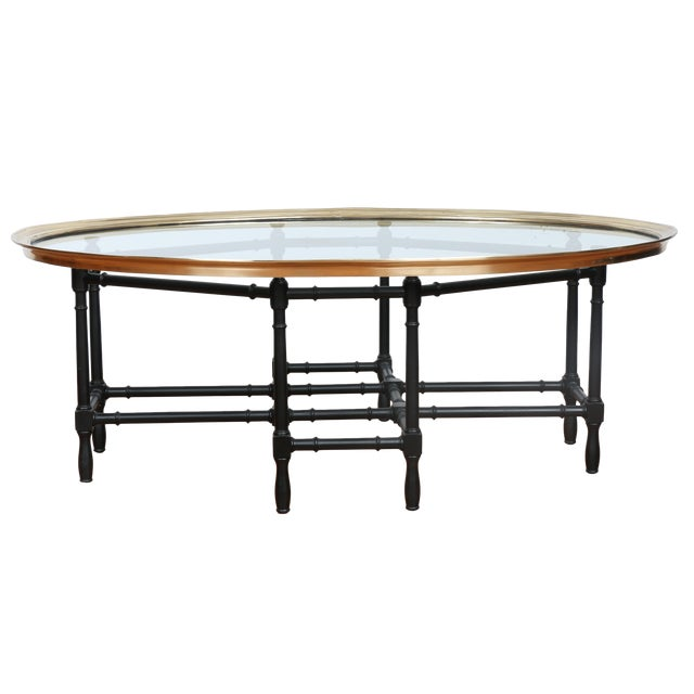Bamboo Base Coffee Table - Image 1 of 10