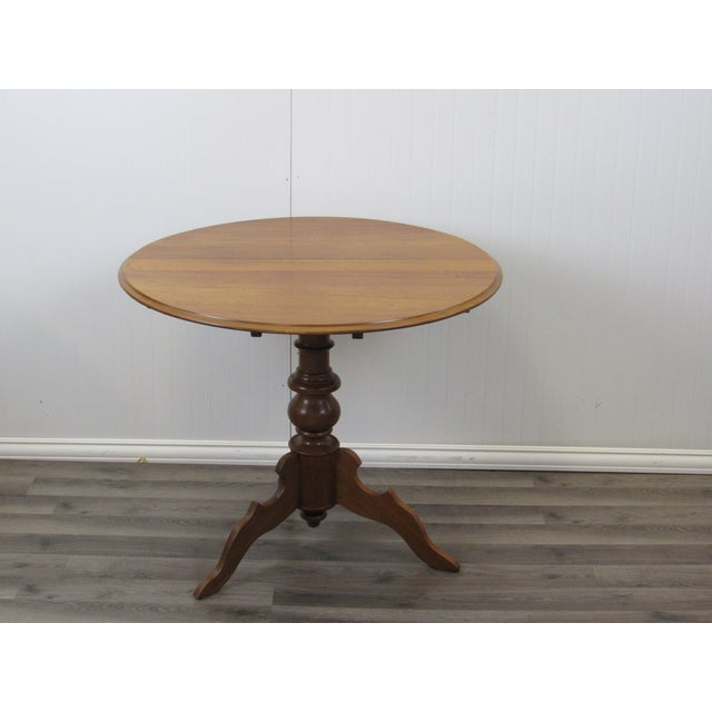 Vintage Mid Century Traditional Round Lift Top Table Chairish