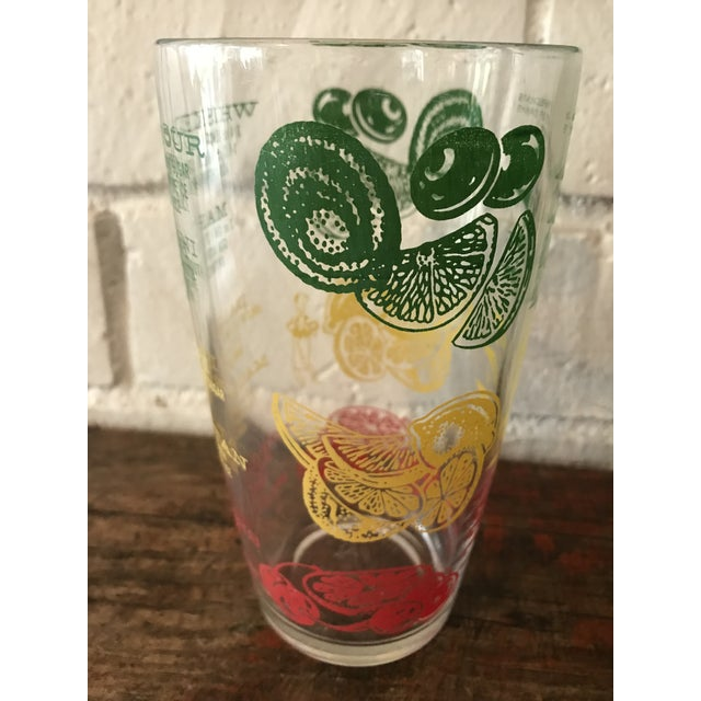 Boho Chic 1950's Boho Chic Mr. Bartender Decorated Measuring Glass For Sale - Image 3 of 10