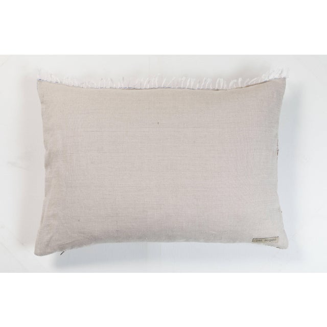 Boho Chic Indian Handwoven Pillow Hand Variation Arrow For Sale - Image 3 of 4