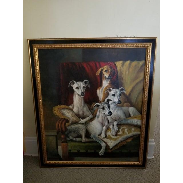 Maitland Smith-Style Greyhound Dog Painting For Sale - Image 9 of 10