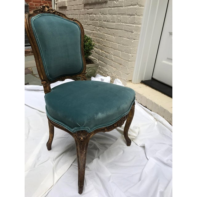 Antique Gilt Ballroom Chair For Sale - Image 10 of 11