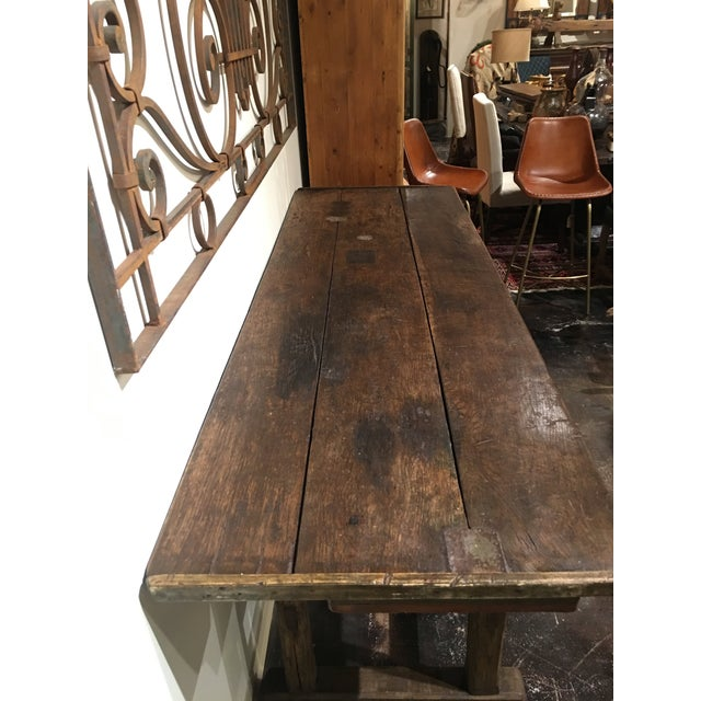 20th Century French Country Work Table For Sale - Image 9 of 14