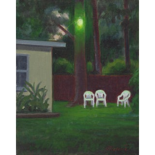 "Peter Contemporary Framed Landscape ""Night Painting"" For Sale"