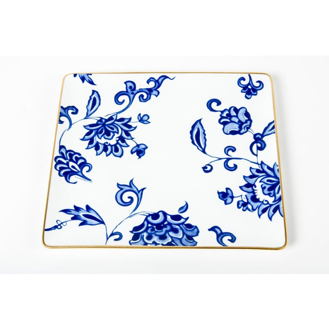 """French porcelain decorative set of 3 catch all trays. Large One Is 9"""" Length X 8"""" Width $ 345.00. Medium Is 5"""" L X 5"""" W $..."""