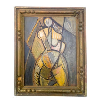 Cubist Portrait of Nude Female Painting For Sale