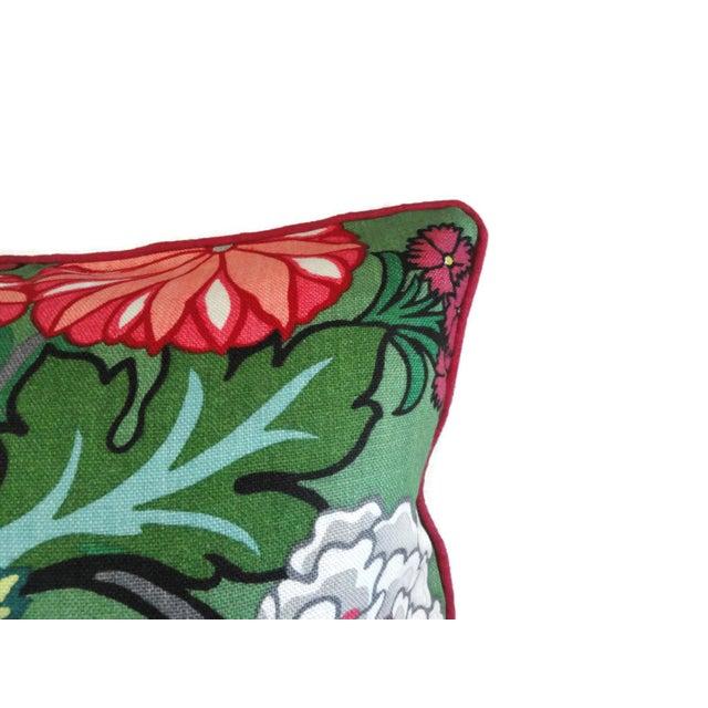 "Schumacher 20"" x 20"" Jade Schumacher Chiang Mai Dragon Decorative Pillow Cover For Sale - Image 4 of 4"