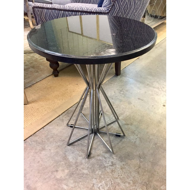 A Secret Warehouse Industrial Round Side Table For Sale - Image 4 of 4