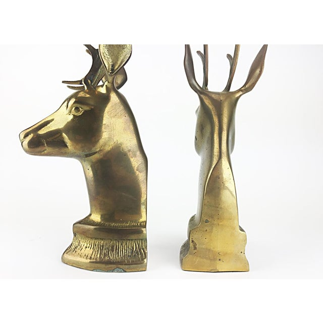 Vintage Elk Brass Bookends - A Pair - Image 5 of 6