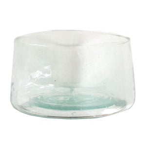 Moroccan Recycled Glass Serving Bowl For Sale