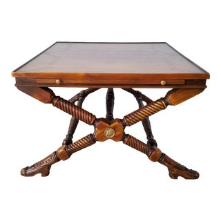 Theodore Alexander Sculptural Coffee Table With Shoe Feet For Sale