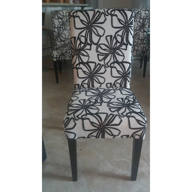 Black & White Parsons Dining Chairs - Set of 6 - Image 2 of 7