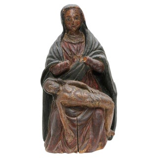 "18th Century Carving the ""Pieta"" Santos For Sale"