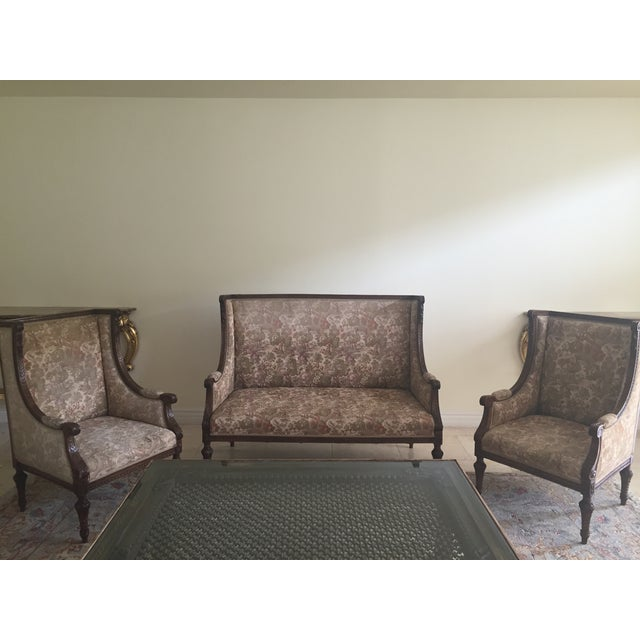 Antique Garden Settee in Olive - Image 6 of 6