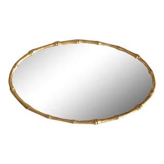 Faux Bamboo Mirrored Vanity Tray