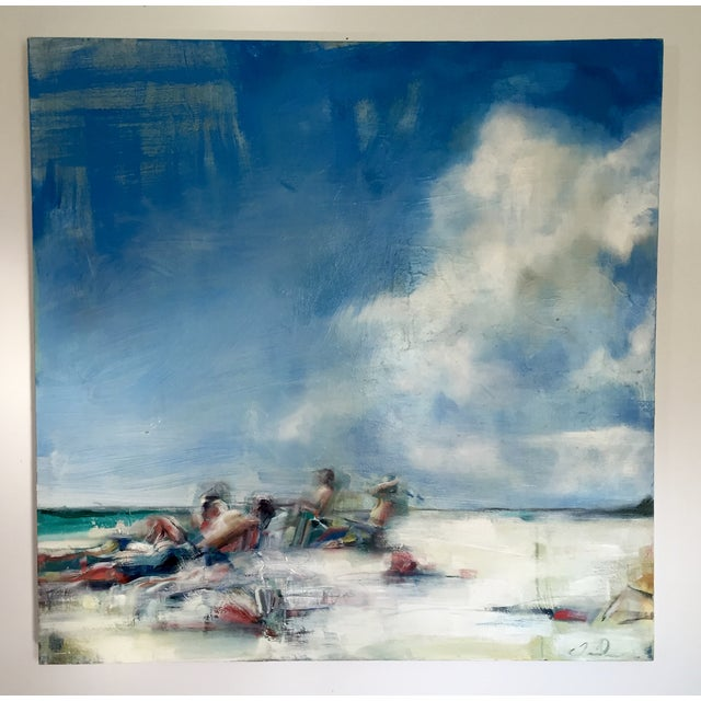 Teil Duncan Original Beach Scene Painting - Image 2 of 5