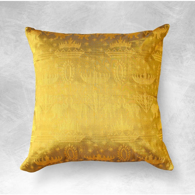"Javanese ""Golden Ganesh"" Pillow Cover - Image 3 of 3"