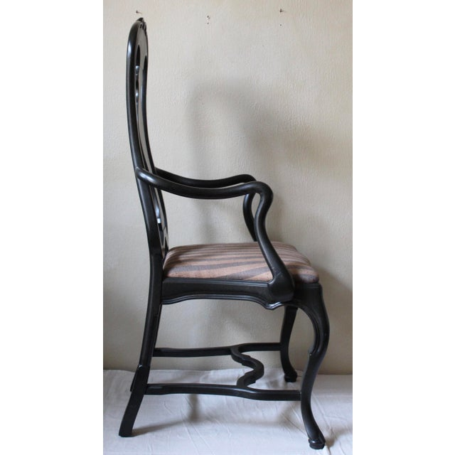 Queen Anne Style Dining Chairs - Set of 10 - Image 4 of 10