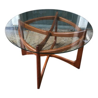 Mid-Century Modern Adrian Pearsall Glass and Walnut Dining Table for Craft Associates For Sale