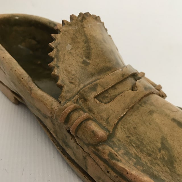 Pottery Loafer Sculpture For Sale - Image 9 of 11