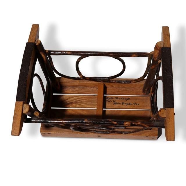Amish Bentwood Rocker & Footstool Set For Sale - Image 4 of 6