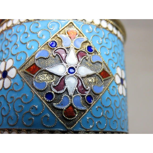 Antique Russian Silver Enameled Napkin Ring For Sale In Boston - Image 6 of 7