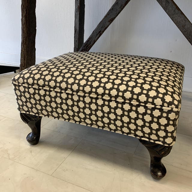 Schumacher Betwixt Vintage Foot Stool For Sale - Image 13 of 13